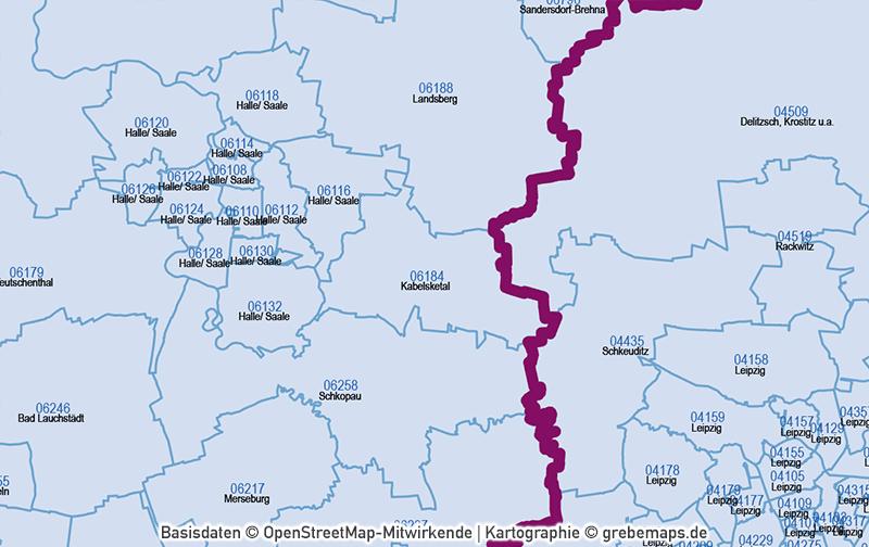Deutschland Postleitzahlen PLZ-5 Vektorkarte 5-stellig, Karte PLZ 5-stellig Deutschland, Karte PLZ Deutschland mit PLZ-5 und Ortsnamen