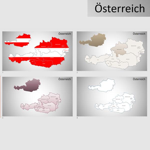 Österreich Austria PowerPoint-Karte Bundesländer, Karte Österreich, Austria, Bundesländer Österreich, PowerPoint-Karte Österreich Bundesländer, Austria Bundesländer