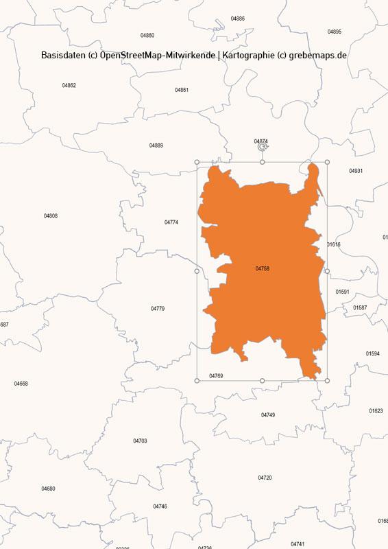 Deutschland PowerPoint-Karte PLZ-Zone 0 (Postleitzahlen 5-stellig), Karte PLZ-Zone 0 Deutschland, Postleitzahlen Zone 0 Karte Deutschland