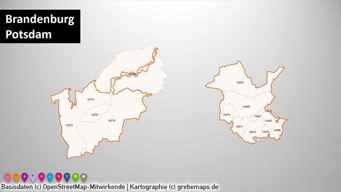 Stadtkarten Postleitzahlen PLZ-5 Deutschland PowerPoint-Karte (PLZ 5-stellig), PLZ-Karte Deutschland Städte, Stadtkarten, Postleitzahlen-Karte 5-stellig