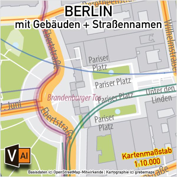 Berlin Stadtplan Gebäude Strassennamen Vektorkarte, Stadplan Berlin Straßennamen, Stadtplan Berlin Gebäude, Stadtplan Berlin 1:10.000, Stadtkarte Berlin , Vektorkarte Stadtplan Berlin, Karte Berlin Straßen, Karte Berlin Illustrator, AI-Datei