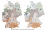 Deutschland Postleitzahlenkarte PLZ-1-5 Ebenen-separiert Mit Landkreisen, Karte PLZ Deutschland Vektor, Vektorkarte PLZ Deutschland 5-stellig, AI-Datei, Download